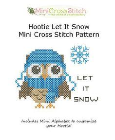 Hootie Let It Snow Mini Cross Stitch Pattern by Pinoy Stitch, http://www.amazon.com/gp/product/B009S3027G/ref=cm_sw_r_pi_alp_y.XFqb167G6EH