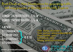 Get best deals on new destinations for generating traffic with easy payouts Of weekly and Monthly Payment.