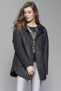 Fall Fashion Outfits, Stylish Outfits, Winter Outfits, Fashion Dresses, Womens Fashion, Flannel Coat, Denim Coat, Coats For Women, Jackets For Women