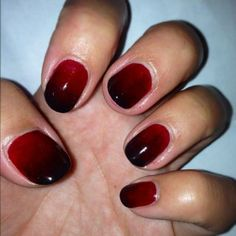 Ombre oxblood
