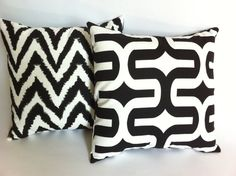 11 sizes available Black White Decorative Pillow by Pillomatic White Decorative Pillows, Sofa Throw Pillows, Black And White, Creative, Handmade, Stuff To Buy, Etsy, Homes, Vintage