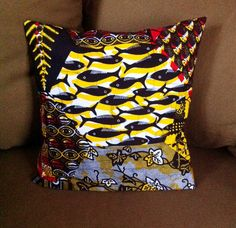 Coussin Petits Poissons