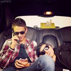 Zedd & Skrillex being cute (gif)