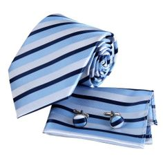 Blue Tie for Men Gift Idea for Husband Dodger Blue Stripes Woven Silk Neckie Hanky EAC1017Cufflinks Gift Box Set By Epoint Epoint,http://www.amazon.com/dp/B008DBI1P4/ref=cm_sw_r_pi_dp_XrUEtb03FK8A532V