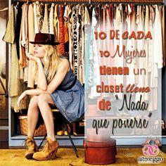#frases #mujer #ropa #closet #lleno #nada #mujeres #women #fashion #moda #bonita #linda #calzado #zapatos #zapatillas #blusas #shorts #vestidos #sombrero #10 #chicas