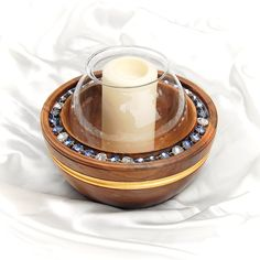 Luxury Candle Holder BILLUR is made from premium quality Walnut wood. Beautifully handcrafted to the last detail with smooth finish. Decorated with radiant cut Crystals, this set will create the right ambience for a truly unique dining experience. Hand gilded with 24-karat Gold this Set makes the perfect Luxury Gift.💎💎💎   #luxurygift #elitegift #luxurycandleholder #candleholder #crystalcandleholder #luxuryinteriors Wooden Gift Boxes, Luxury Candles, Radiant Cut, Everyday Items, Napkins Set, Walnut Wood, Crystals And Gemstones, Luxury Interior, Decorative Accessories