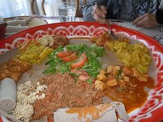 African food (specifically Ethiopian, but it looks like what we ate every day in Uganda).
