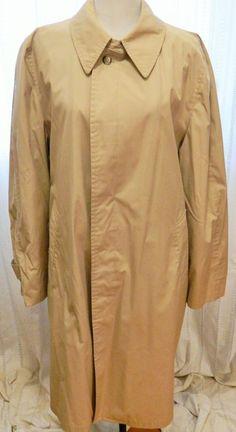 98565d8110 Vintage Men s London Fog by Reeves Raincoat Trench Coat Lined Beige Size 44  Long  LondonFog