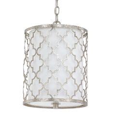 Contempo Arabesque Mini Pendant white_and_antique_silver