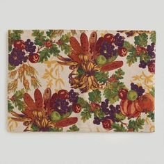 One of my favorite discoveries at WorldMarket.com: Reversible Harvest Placemats, Set of 4