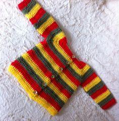 Saquito rastade bebe realizado en crochet