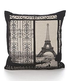 I love this pillow so cute! Brentwood Originals Gates To Paris Decorative Pillow #Dillards