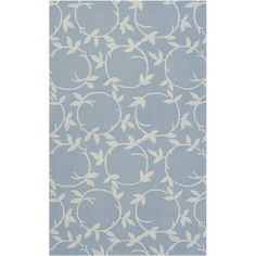 I pinned this Fleur Rug in Pale Blue from the Rustic & Refined event at Joss and Main!