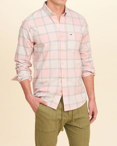 Hollister Stretch Plaid Poplin Shirt (Epic Flex, STORE ITEM: 325-259-1724-609  / WEB ITEM: 158328)