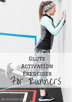 Pre run glute activation exercises - perfect for marathon training runs