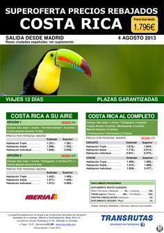 COSTA RICA ¡Superoferta Precios Rebajados Agosto: pl. garantizadas! Madrid: 12 días desde 1.796€ - http://zocotours.com/costa-rica-superoferta-precios-rebajados-agosto-pl-garantizadas-madrid-12-dias-desde-1-796e/