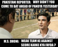 MS Dhoni be like :) #INDvPAK #PAKvIND #CT2017 For more cricket fun click: http://ift.tt/2gY9BIZ - http://ift.tt/1ZZ3e4d