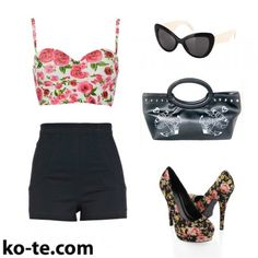 Pin-up look with modern clothes #look #pinup