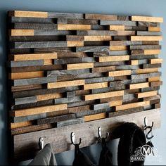 Bois manteau manteau Rack.Wooden Rack.Modern par MakariosDecor