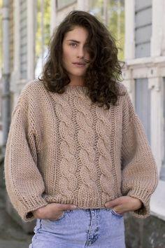 Ravelry: Eriikka Sweater pattern by Sari Nordlund Easy Sweater Knitting Patterns, Free Knitting Patterns For Women, Knit Patterns, Jumper Patterns, Knitting Sweaters, Cardigan Pattern, Chunky Cable Knit Sweater, Lace Sweater, Piercings