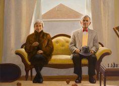 "Bo Bartlett - Inheritance, oil on linen. (""Inheritance"" is a portrait of his parents)"