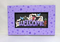 Welcome Spring Bunnies Sign Tole Painted by barbsheartstrokes, $27.00