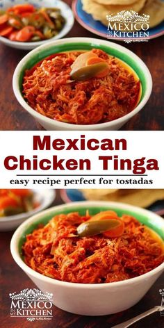 This is the most popular version of Chicken Tinga all over Mexico, with the right ingredients and amazingly tasty. #chickentinga #easydinner #chickendinner Mexican Chicken Recipes, Best Mexican Recipes, Ethnic Recipes, Potluck Dinner, Mexican Potluck, Chicken Tinga Recipe, Real Mexican Food, Mexico Food, Meals For The Week