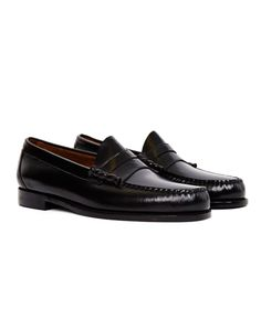 Shop for a pair of G.H. Bass & Co. Weejuns Classic Penny Loafer in black. Available at menswear retailer The Idle Man.