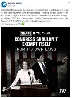 It should be illegal for Congress to exempt themselves from laws they have passed which we have to obey. They should not be above or outside of the laws of this land.