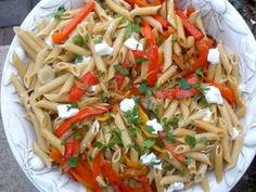Journey of an Italian Cook: Pasta with Peppers and Goat Cheese - a new tradition