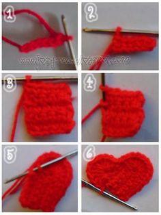 *.:。✿JosyCrea✿.。.:* Tejido a Crochet y Más!: Corazón de crochet en 6 pasos