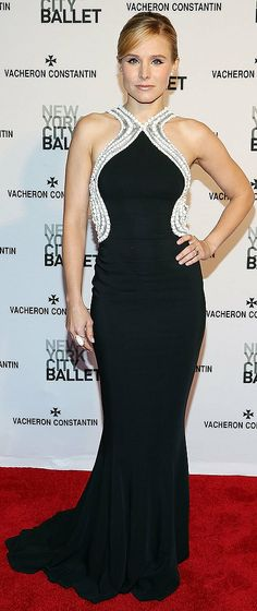 Kristen Bell in Zuhair Murad at the New York City Ballet Spring Gala.