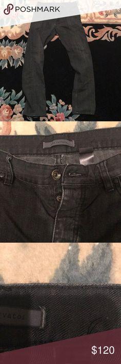 Slim fit John Varvatos black jeans 30 In great condtion, comfy. Light wallet mark on back pocket. John Varvatos Jeans Straight