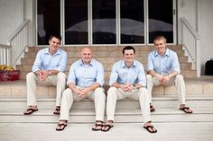 Sand Dollar Estate Wedding by Jules Bianchi Photography Mens Casual Wedding Attire, Casual Groom Attire, Groomsmen Outfits, Groom And Groomsmen Attire, Men Casual, Beach Wedding Groom, Beach Wedding Attire, Wedding Men, Blue Wedding