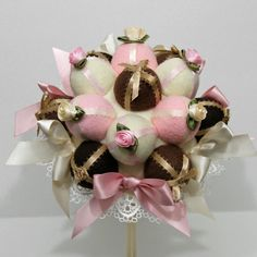 Beautiful Sweet Chocolate Rose Bon Bon Wedding by SheenasBellaBows, $75.00