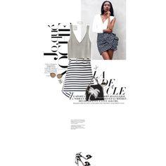 A fashion look from June 2017 by sa3ina featuring H&M, Carven, Aquazzura, STELLA McCARTNEY, Bottega Veneta, Eddie Borgo, Avenue, Gucci, Harper & Blake, stripes,...