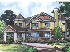 Queen Anne House Plan with 2683 Square Feet and 4 Bedrooms from Dream Home Source | House Plan Code DHSW18517