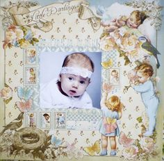 Precious Little Darlings layout by Lyudmila Kruchinina using Little Darlings! Share on our Ning gallery #graphic45 #layouts