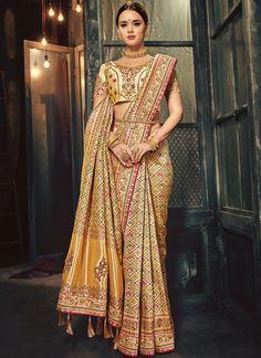 New Indian Bollywood Designer Party wear Banarasi Silk Saree- Blouse for Women