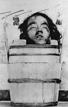 Hidashida Sadakata after his execution at the Awadaguchi execution grounds outside of Kyoto, he was beheaded and his head was put on public display (sarashikubi) for his involvement in the attack on the delegation of the British Consul-General in Japan (Sir Harry Smith Parkes) to the Meiji Emperor, February 1868.