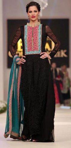 Stylish Pakistani Indian formal A-Line Flared Long Dress FW 32