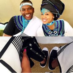 Traditional south african wedding/xhosa couples / inspiration for traditional cultural couples African Fashion Designers, African Inspired Fashion, African Men Fashion, African Fashion Dresses, African Women, African Wedding Dress, African Print Dresses, African Dress, African Clothes