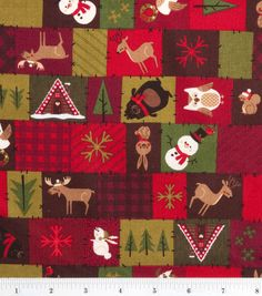 Holiday Inspirations Fabric-Northwoods Block & Holiday Fabric at Joann.com