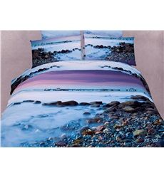 Bring beautiful styling to your bedroom with this amazing New Arrival Pebbles in the Mist Print 3D Bedding Sets. #bedding #bedroom