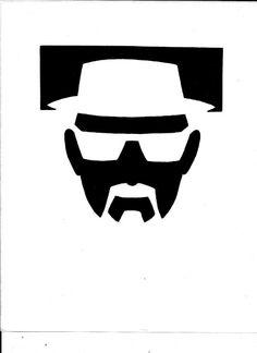 Heisenberg pumpkin stencil