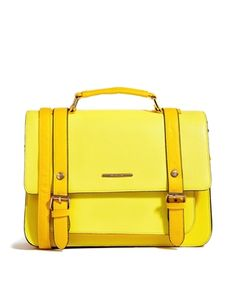 Perfect yellow color for a satchel for school or just adventures. River Island Yellow Oversized Satchel