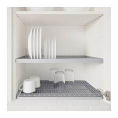 IKEA - UTRUSTA, Dish drainer for wall cabinet,  , 60x35 cm, , 25 year guarantee. Read about the terms in the guarantee brochure.Can be mounted in a wall cabinet to free up space…