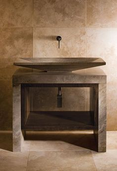 Stone Forest Siena - The Stone Forest Siena collection reminds me of a bathing room from antiquity. Made predominantly with Siena silver-grey marble, I feel it is fit f. Modern Small Bathrooms, Small Bathroom Vanities, Bathroom Ideas, Bathroom Marble, Vanity Bathroom, Marble Wall, Bathroom Designs, Siena, Contemporary Bathroom Furniture