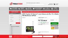 [PneuStore] GPS Tracker III Tela 4,3 ´ com Câmera de Ré, TV e Rádio FM Multilaser GP035 por R$ 271,58