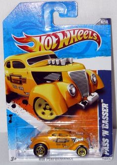 Hot Wheels Performance Series Die Cast Toy Vehicle #6 Golden Yellow Pass 'N Gasser Gasket Test Car Ford Hot Rod $0.29
